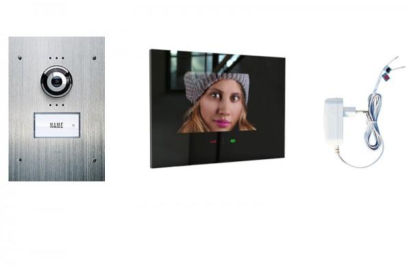 1-Fam.Haus Set UP mit IP-Innenstation (App) 7 Zoll, Bildspeicher, Touch & mp3