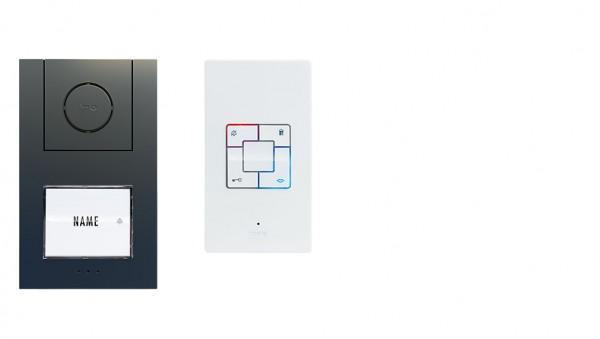 Audio-Türsprechanlage ALU 1-/2-/3-Familienhaus Set (AP)