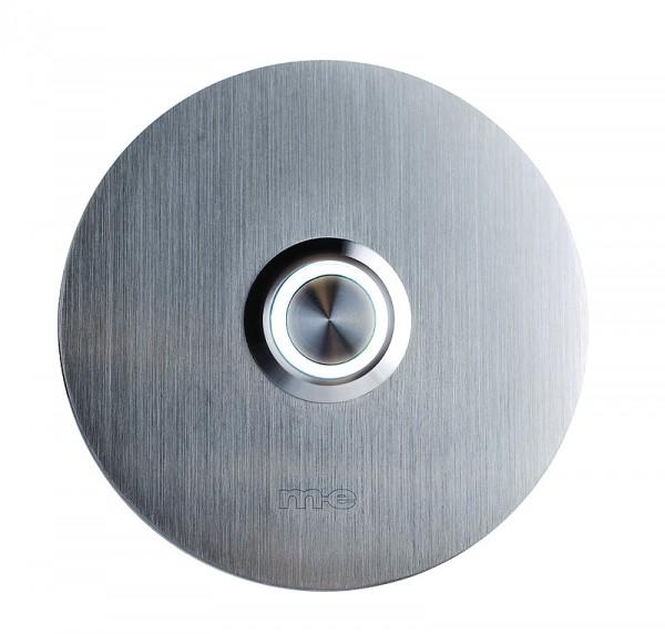 Klingeltaster m. integriertem Leuchtring - Gravurfläche rund