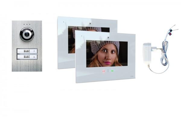 2-Fam.Haus Set mit IP-Innenstation 7 (App) Zoll, Bildspeicher, Touch & mp3