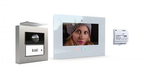 1-Fam.-Haus Set RFID, ALU Außenstation Farbe silber oder anthrazit & IP-Innenstation (App)