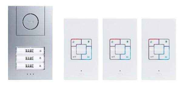 VISTUS Audio-Türsprechanlage 3-Familienhaus Set (AP)