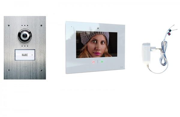 1-Fam.Haus Set UP mit IP-Innenstation 7 Zoll, Bildspeicher, Touch & mp3