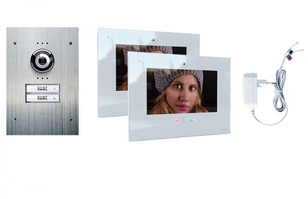 2-Fam.Haus Set UP mit IP-Innenstation 7 Zoll, Bildspeicher, Touch & mp3-Copy