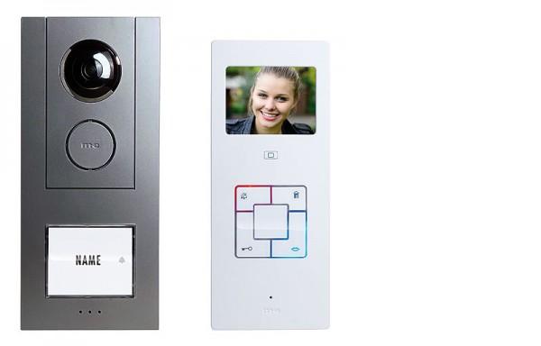 """Video-Türsprechanlage Set ALU 3,5"""" für 1, 2-Familienhaus"""