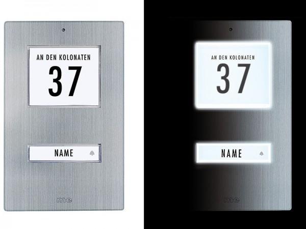 Klingeltaster für 1, 2, 3-Familienhaus Edelstahl (AP)