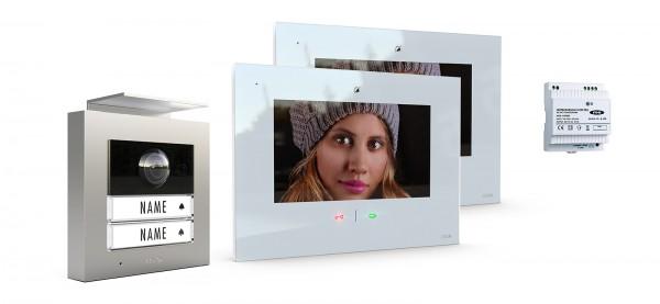 2-Fam.Haus Set RFID, ALU Außenstation Farbe silber oder anthrazit & IP-Innenstation (App)
