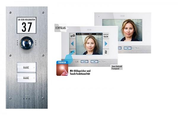 """2-Fam.-Haus-Set UP, mit TOUCH-Innenstation & Bildspeicher, 7"""""""