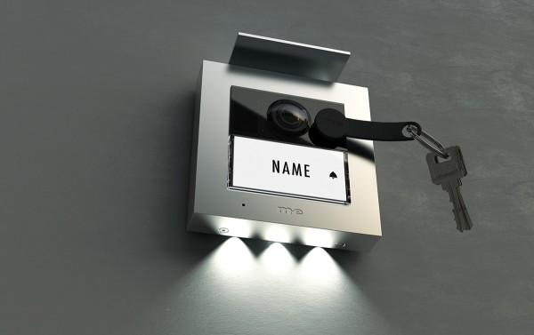 Video Außenstation RFID ALU 1, 2-Familienhaus (AP) Farbe silber, anthrazit oder weiß