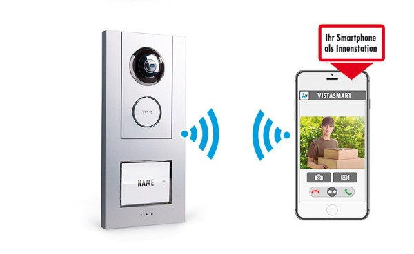 iP Video WLAN Türsprechstation für Smartphone, 1-Fam.-Haus